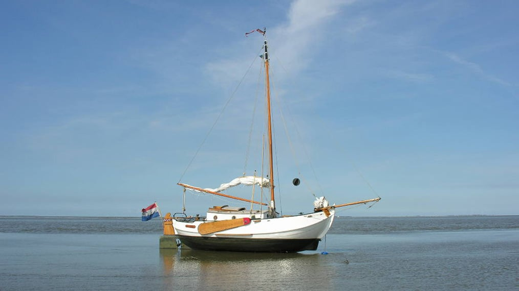Falling dry on the Wadden Sea with a flat bottomed sailing boat